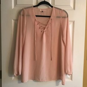 Alythea lace-up top